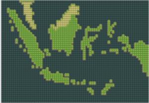 World Map Indonesia
